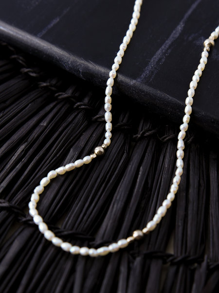 The Two Collectors Peaceful Pearl Necklace Goldfilled