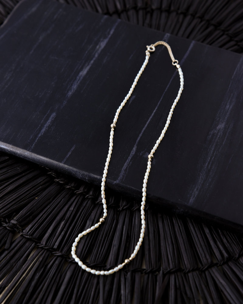 Goldfilled Peaceful Pearl Necklace