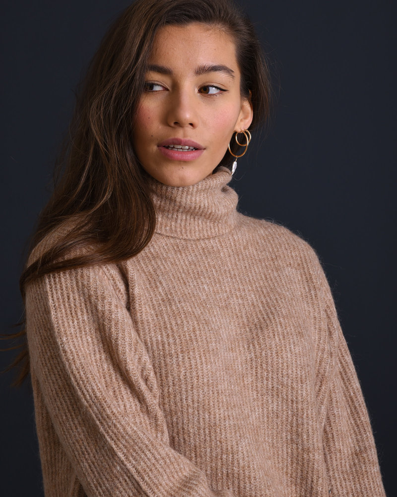 Allu Roll Neck Knit Pullover Tawny Brown