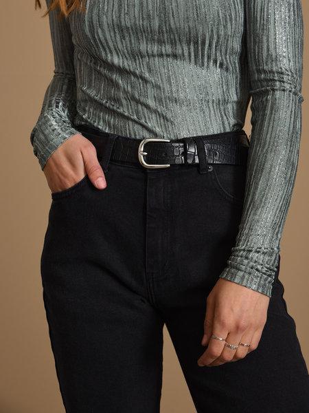 Croco Belt Silver