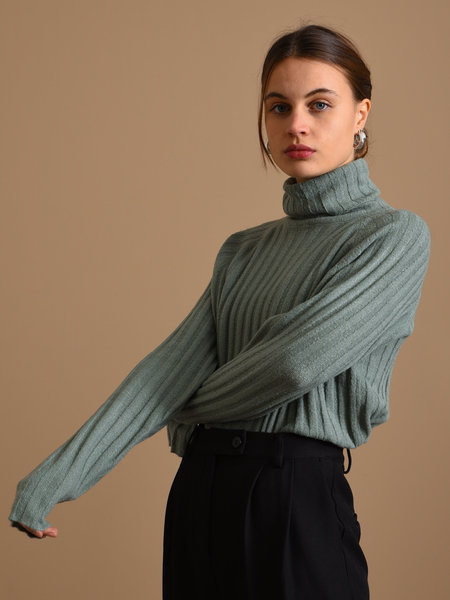 24Colours Roll Neck Knit Green