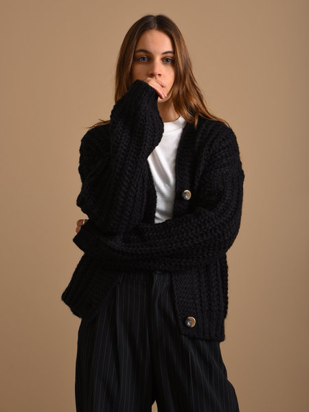 Noisy May Steve Knit Cardigan Black