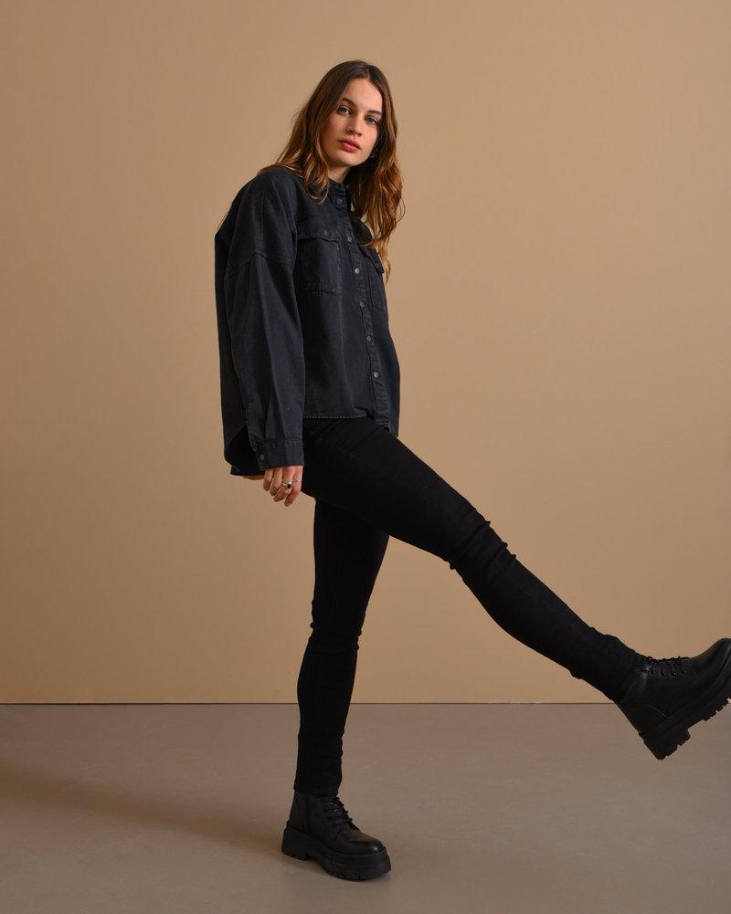 Callie Chic HW Jeans Black