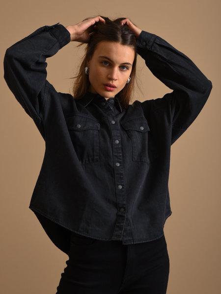 Noisy May Rica Oversized Acid Shirt Black