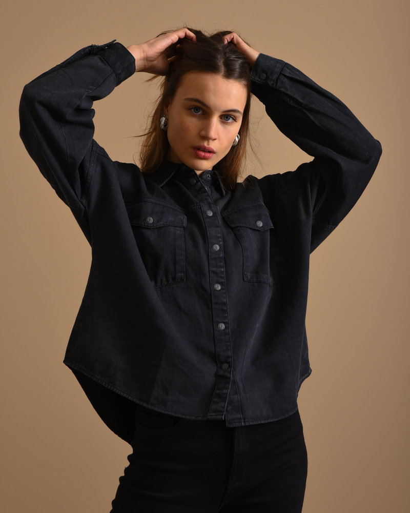 Rica Oversized Acid Shirt Black