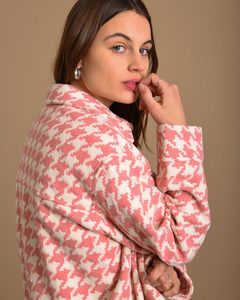 Senta Overshirt Pink/White