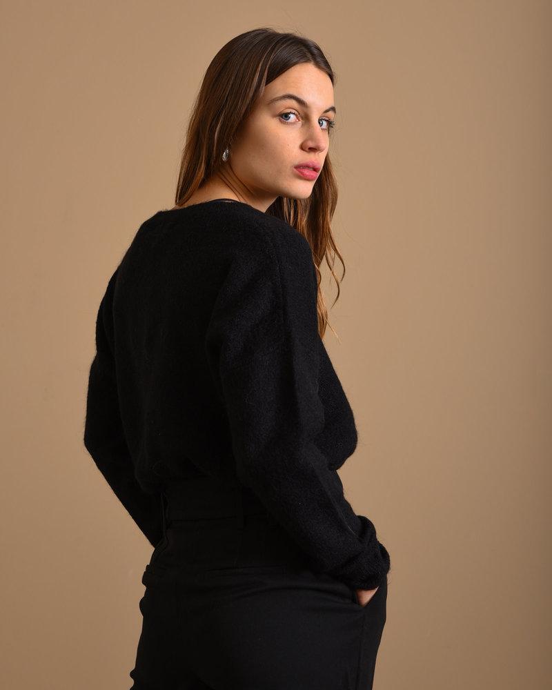 Femme Mohair O Pullover Black