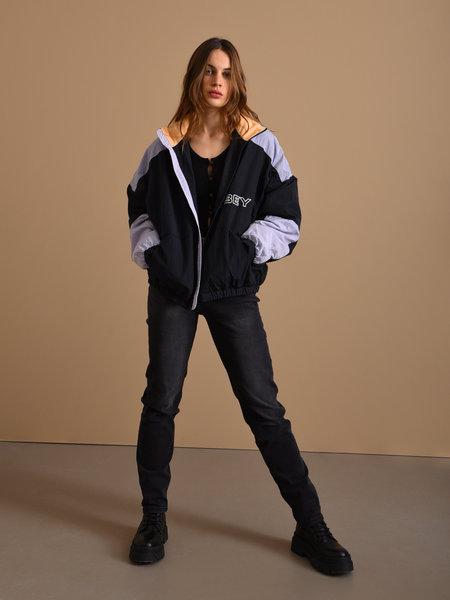 OBEY Bruges Jacket Black/Periwinkle