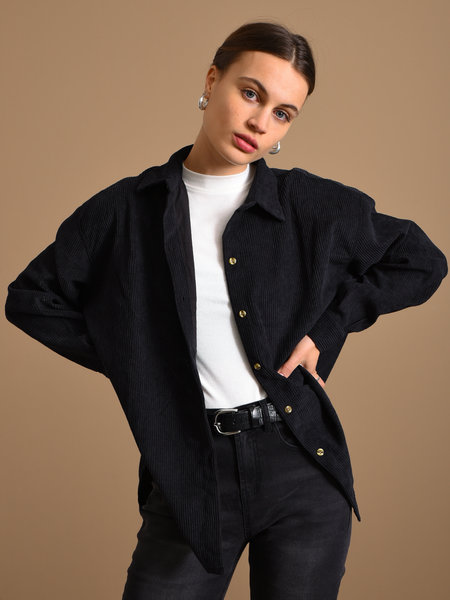 Things I Like Things I Love TILTIL Corduroy Blouse Black