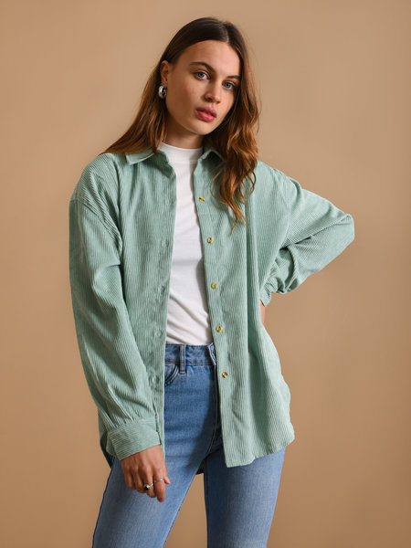 Things I Like Things I Love TILTIL Corduroy Blouse Mint