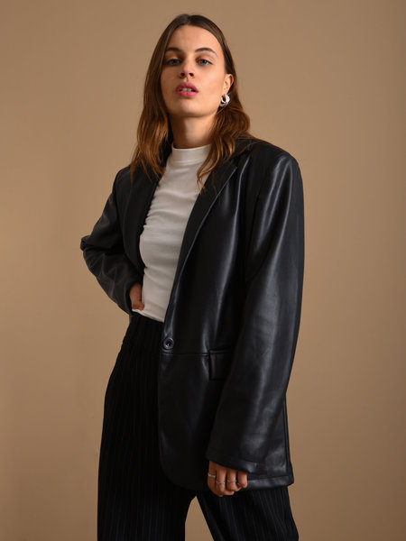 Things I Like Things I Love TILTIL Jackie PU Leather Blazer