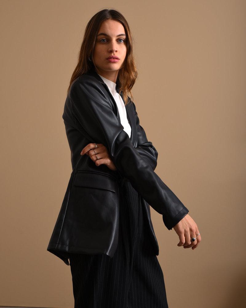 TILTIL Jackie PU Leather Blazer