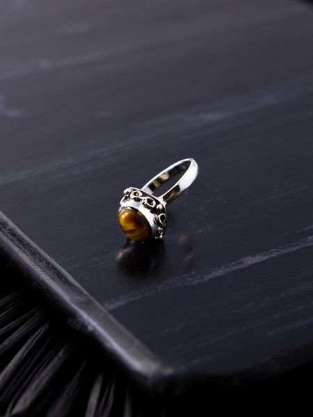 Things I Like Things I Love Stone Ring Brown Swirl