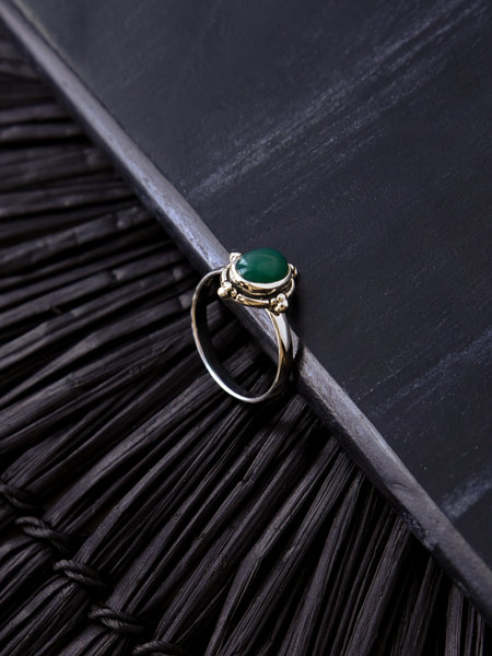 Things I Like Things I Love Stone Ring Green Two Dots