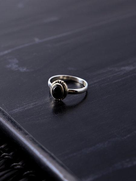 Things I Like Things I Love Stone Ring Black Three Dots