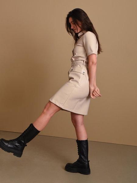 Noisy May Dust Shirt Dress Taupe Grey