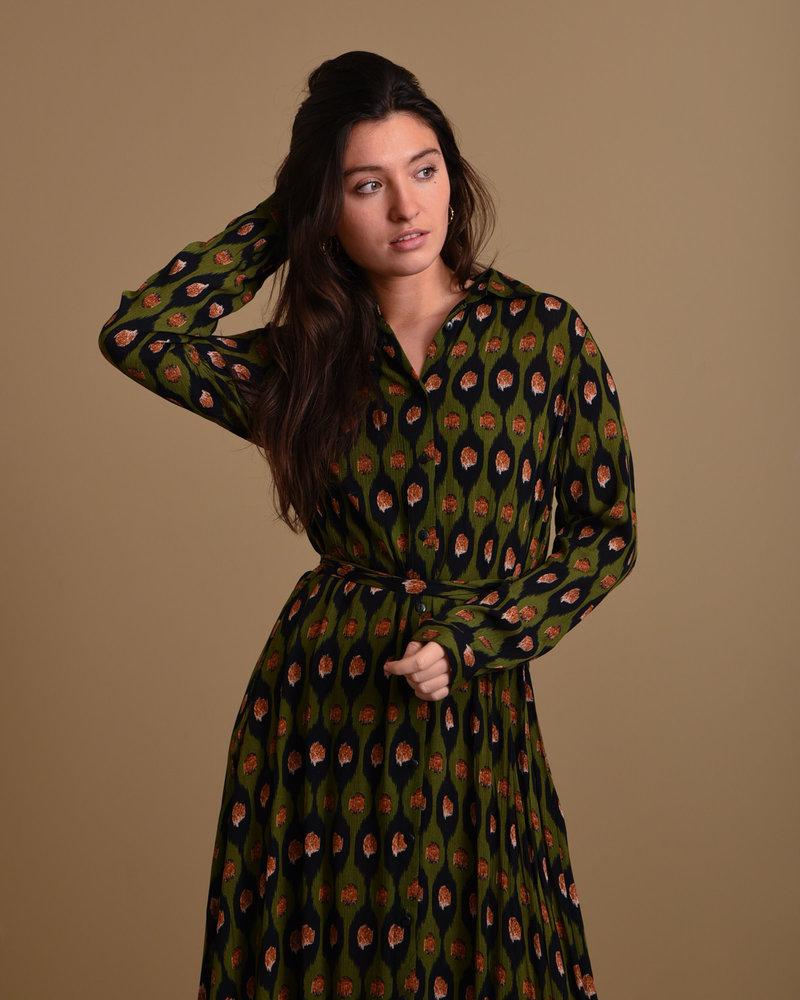 TILTIL Olivia Long Dress Avocado Print