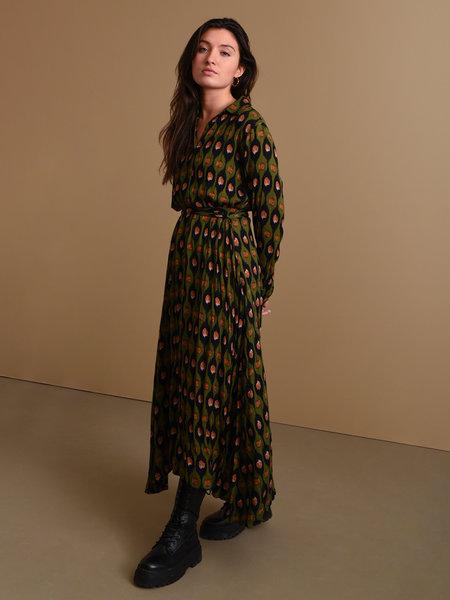 Things I Like Things I Love TILTIL Olivia Long Dress Avocado Print