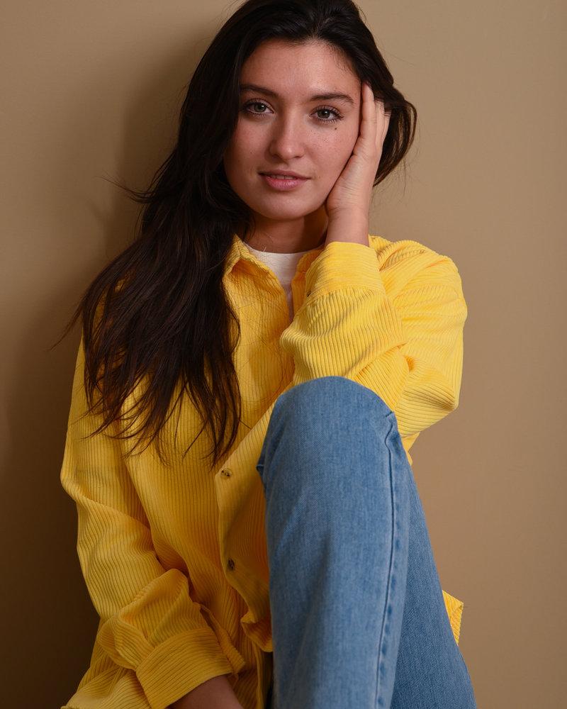 TILTIL Corduroy Blouse Yellow