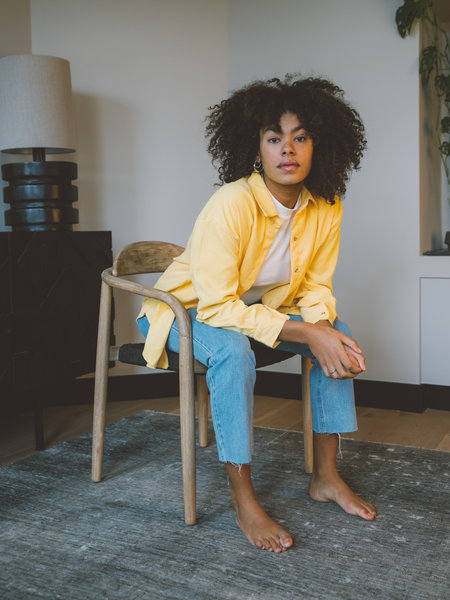 Things I Like Things I Love TILTIL Corduroy Blouse Yellow