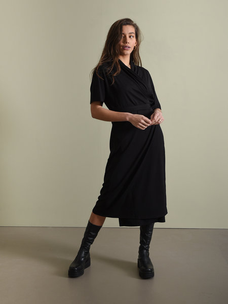 YAS Enice Wrap Dress Black