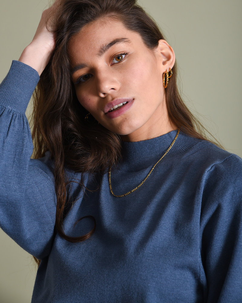 Knitted Sweater Blue