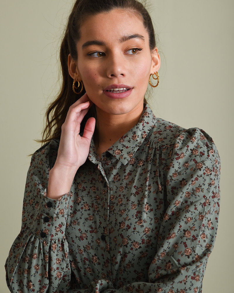 Printed Blouse Mint