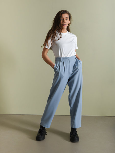 YAS Cornflower Cropped Pant Blue