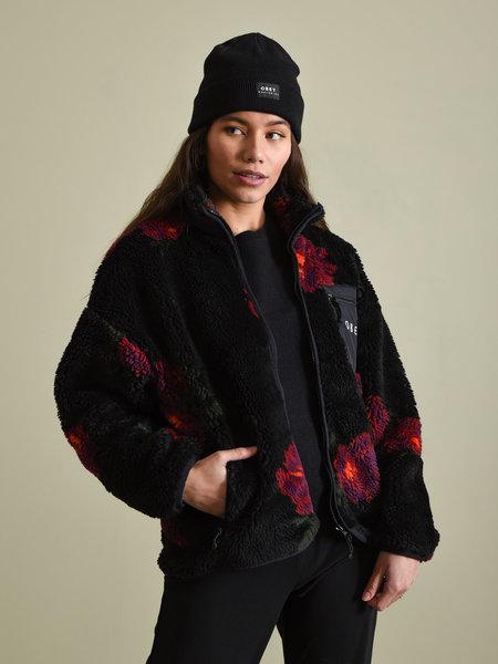 OBEY Mesa Sherpa Jacket Black Multi