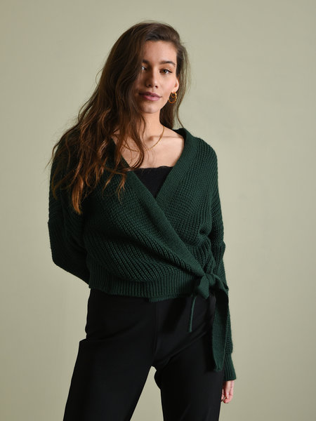 Things I Like Things I Love TILTIL Erlijn Wrap Knit Green