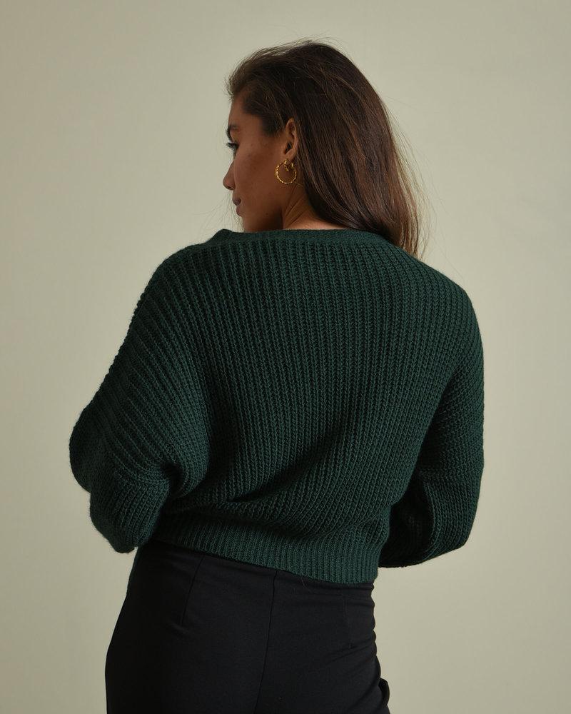 TILTIL Erlijn Wrap Knit Green
