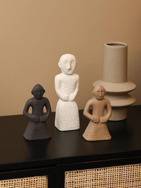 Madam Stoltz Stoneware Deco Men Beige Small