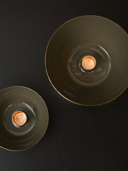 Padru Candle Holder Olive Green