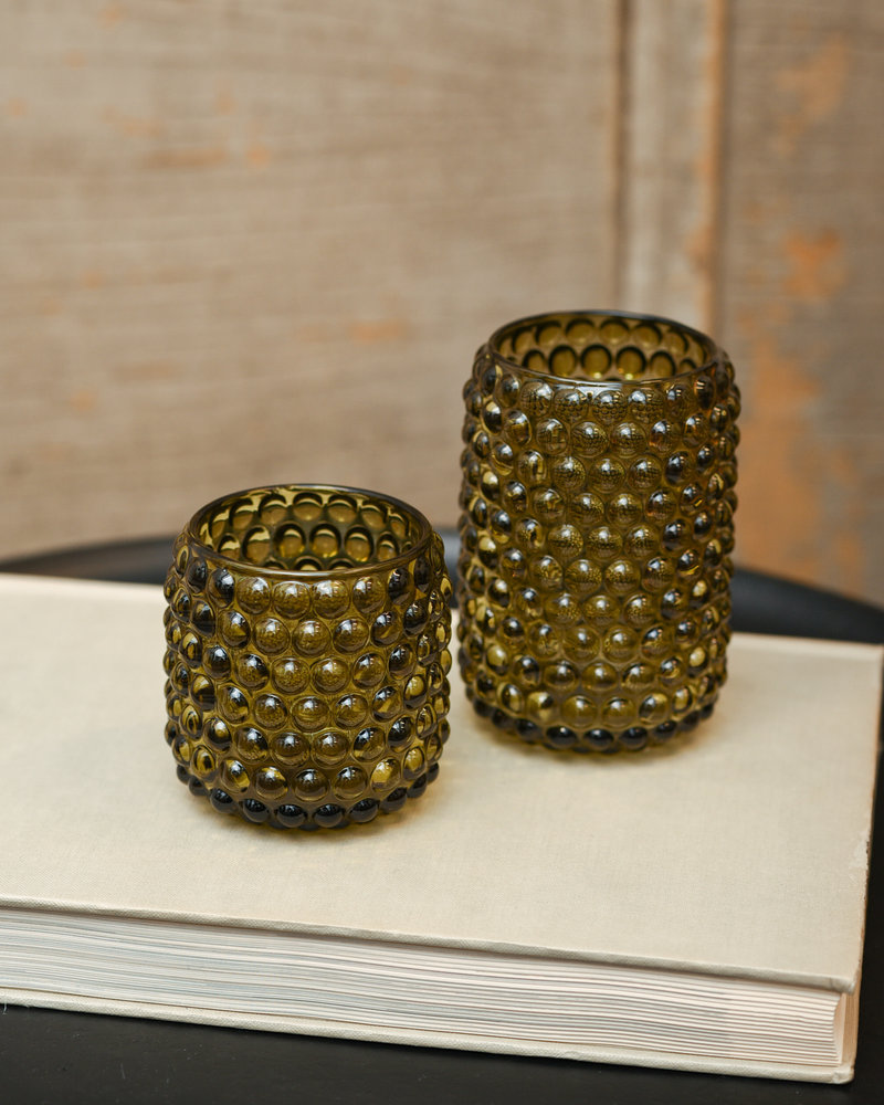 Tealight Palet Glass Olive Green