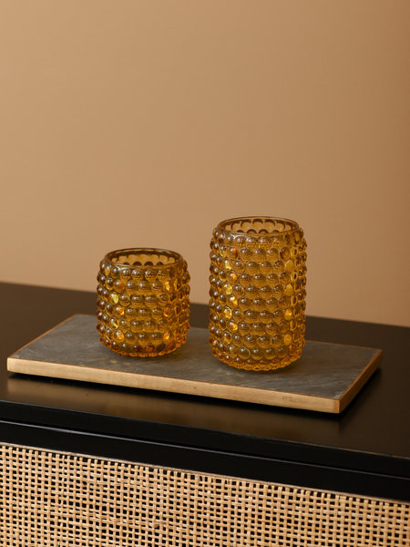 Tealight Palet Glass Ocher