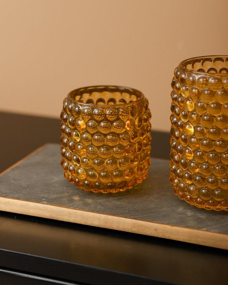 Tealight Palet Glass Ocher
