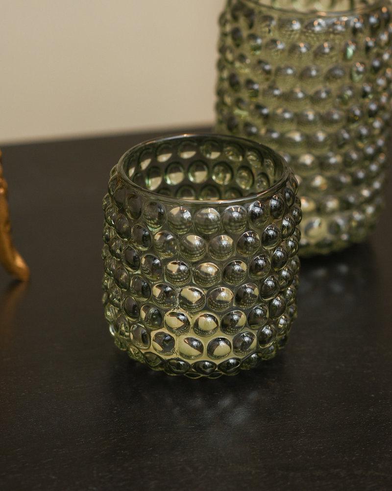 Tealight Glass Palet Grey Green