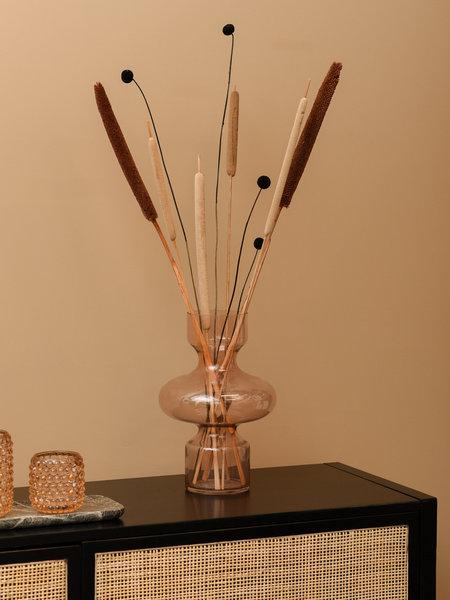 Vase Glass Peach