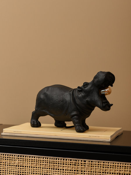 Hippo Lamp Black