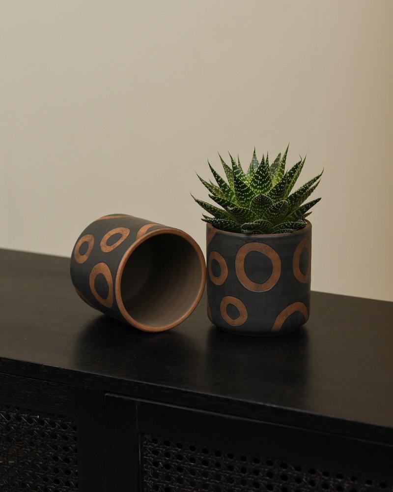 Planter Black Terracotta