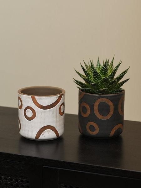 Planter White Terracotta