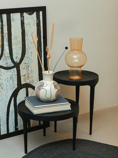 Vase White Face Stoneware