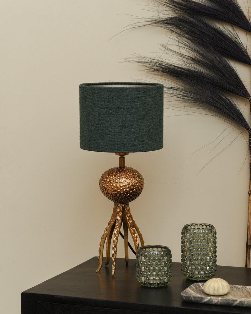 Octopus Lamp + Shade Emerald