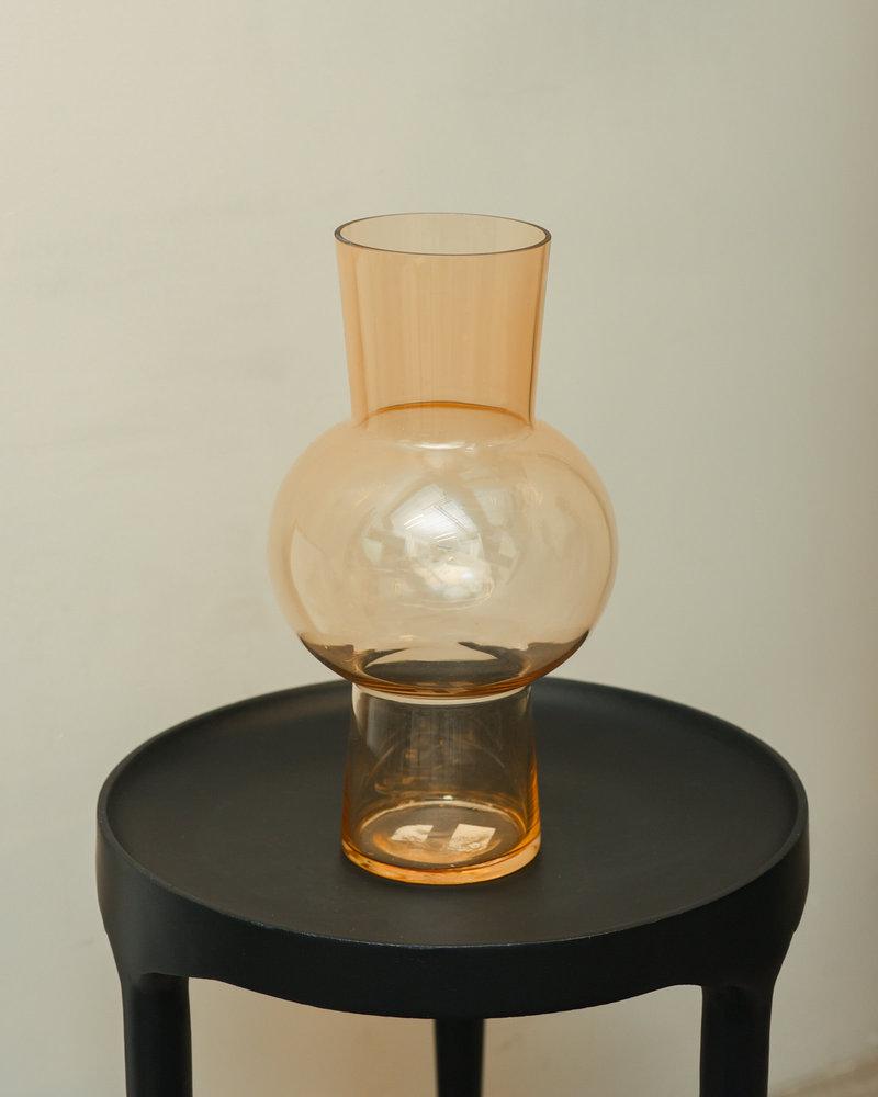 Flower Vase Glass Peach