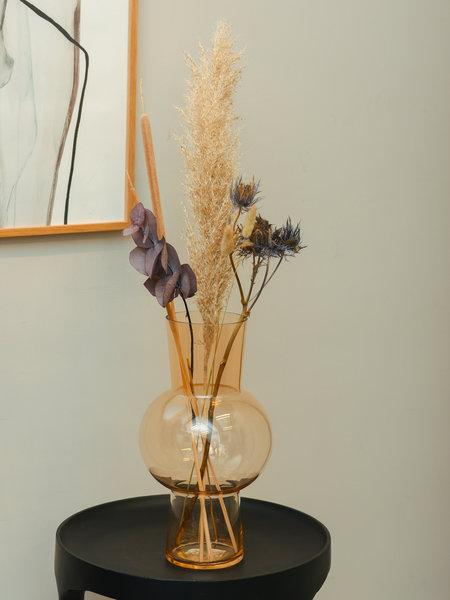 HK Living Glass Flower Vase Peach