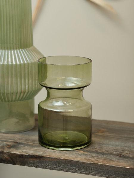 HK Living Green Glass Vase