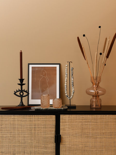 Art Print Brown + Frame Black Pine