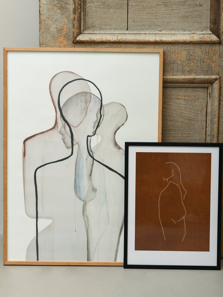 Art Print Hadil + Frame Black Pine