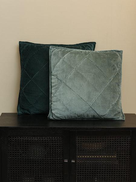 Cushion Diamond Velvet Ocean Blue