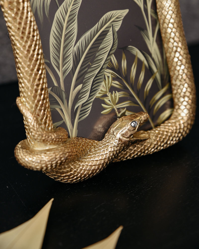 Photo Frame Snake Gold